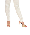 Womans Chikan Embroidered Leggings