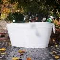 Galvanized Metal Beverage Party Tub