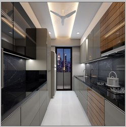 Acrylic Modular Kitchen, Warranty: 5-10 Years