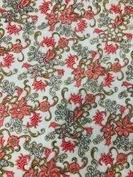 Printed Machine Applique Work Fabric