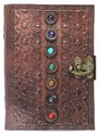 Seven Stone Leather Embossed Journal Diary For Men Women