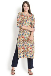 Multicoloured Rayon Kurti