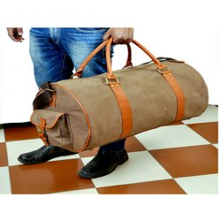 Plain Luggage Leather Bag