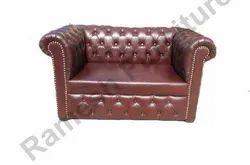 Brown Leatherette Designer Sofa