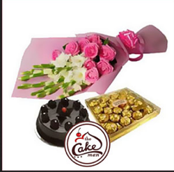 Surprise Gift With Chocolate And Bouquets