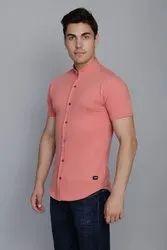 Salmon Peach Pique Shirt