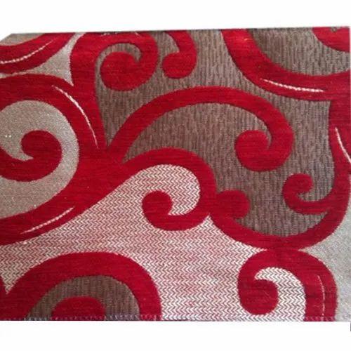 Jute Embroidered Chenille Sofa Fabric