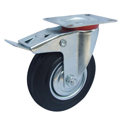 Black Round Caster Trolley Wheel