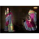 Namo Party Wear Women Silk Saree, With Blouse Piece