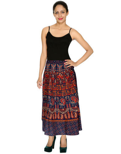 72829750e4 Genera Designer Elephant And Peacock Printed Wrap Around Women Skirt ...
