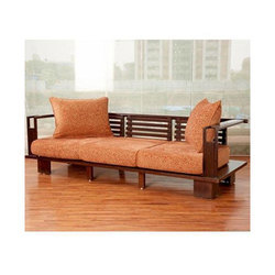 Brown Stylish Wooden Sofa