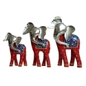 Side Face Colored Haathi 1 Set