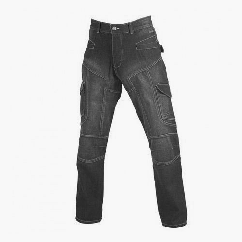 Denim Comfort Fit Men Black Cargo Jeans