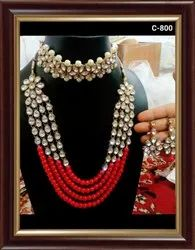 Red Wedding Artificial Necklace Set