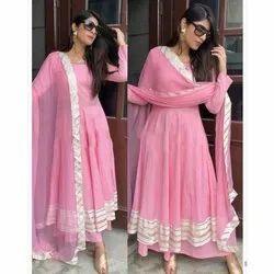 Ladies Pink Anarkali Kurti