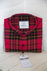 Green Hill Mens Red Black Check Shirt