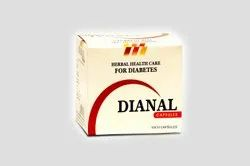 Dianal Herbal Capsules, for Personal, Packaging Type: Box