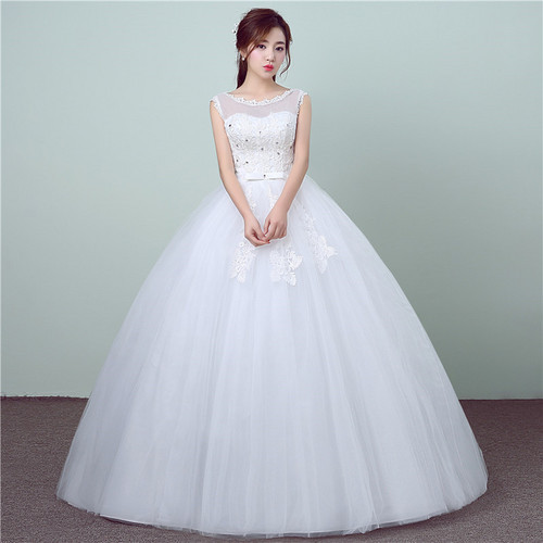 White Imported Christian Wedding Gown Catholic Gowns Wedding Frock ...
