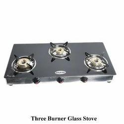 Three Burner Glass Stove