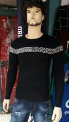 Black Mens Woolen Sweater