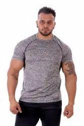 Mens 4 Way Lycra Half Sleeves Gym Tshirt