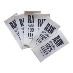 White And Black Printed Cloth Labels