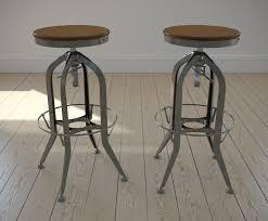 Toledo Bar Stool With Wooden Seat, Clear Finish Stool