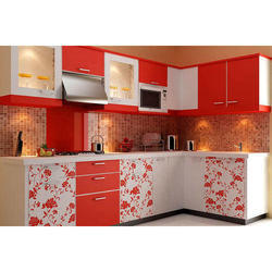 Residential L Shaped Modular Kitchen, Warranty: 5-10 Years