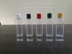 Transparent 100mL Cylinder Pet Bottle