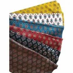silk cotton Ajrakh Printed Mashroo Fabric, For Suit, GSM: 100-150, 150-200