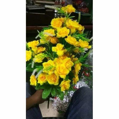 Yellow artificial flowers fake flower kritim phool das flower yellow artificial flowers mightylinksfo