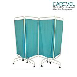 Carevel Bedside Screen 4 Folds With Curtains, Usage: Hospital