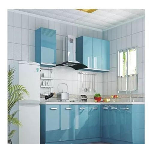 Aluminium Modular Kitchen At Rs 1100 Square Feet: L Shape Blue D Modular Kitchen, Rs 1100 /square Feet