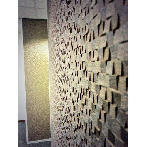 Stone textured wall covering