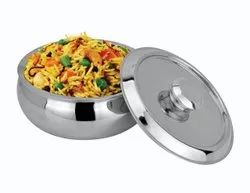 Silver Stainless Steel Casserole