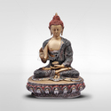 Mantra Silver Antique Bronze Buddha Statue