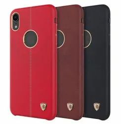 NILLKIN PU Leather Shockproof Hard PC Back Cover Protective Case for iPhone XR