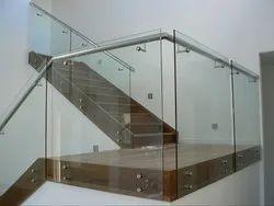 Bar Stainless Steel Frameless Glass Railing