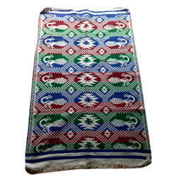 Printed Rectangular Multicolor Jacquard Rug, For Floor