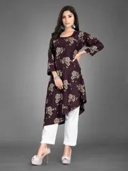 Rayon Cotton Kurti Pant Set