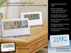 Sharp Weather Station Clock