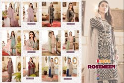 Fepic Rosemeen Arcenia Georgette Embroidered Pakistani Salwar Suits