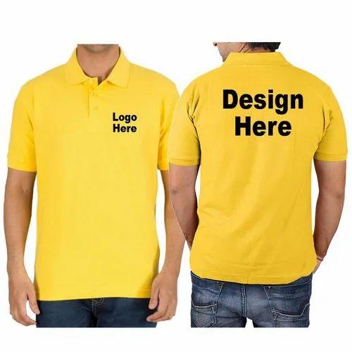 7c50bd4f3 Logo & Back Print Cotton Corporate Polo T-Shirt Printing Service ...