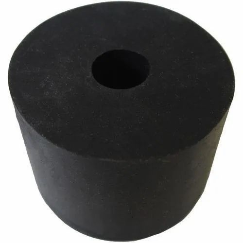 Black Rubber Mounting Pad, Cylinder