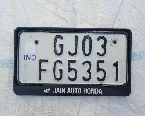 Pvc Number Plate Frame