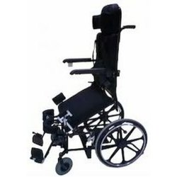 Motorised Stand Up Wheelchair with manual propelling