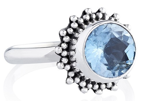 Sterling Silver India 92.5 Blue Topaz Rings