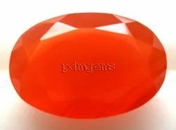 Carnelian Faceted Oval Cut Gemstone