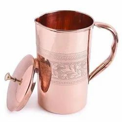 Copper Water Jug Embossed Design