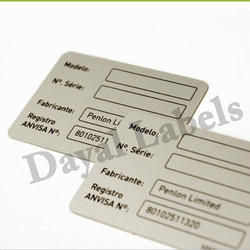 Anodized Metal Labels